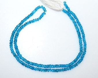 1 Strand Neon Apatite Faceted Rondelle Beads 13 Inch Strand , Apatite Rondelle Beads , Sold By Strand , 2.50 - 3 mm - MC904A