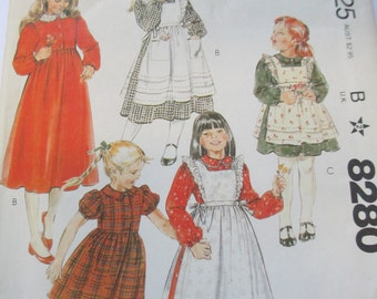 Vintage 1982 Sewing paper pattern girls dress  pattern size 5 uncut McCall's 8280