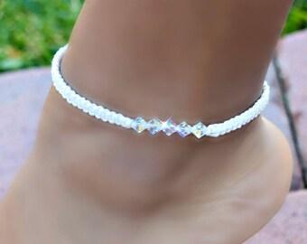 Swarovski Crystal Knotted Anklet/Beach/Summer/Friendship