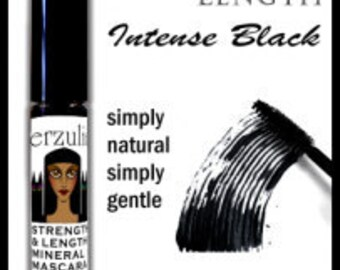 Natural Mascara in INTENSE BLACK  Eco-Certified Cruelty Free   Non Toxic Mascara   Natural and Organic Mascara