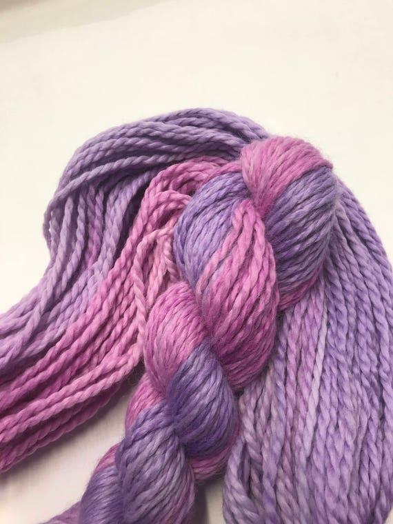 "100g Baby Alpaca Chunky / Bulky Yarn, hand dyed in Scotland, ""Professor Plum"", pink, purple, so soft and squishy!"