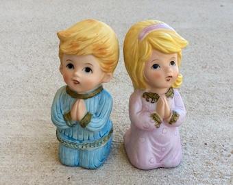 Homco Praying Boy and Girl