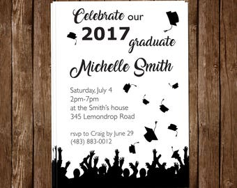 Personalized High School or College Graduation Invite 5x7