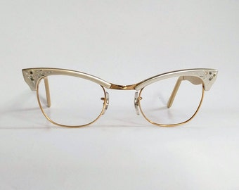 Quality, NOS, Vintage 1950s/1960s 12kgf Gold 'Avian' Eyeglasses Manufactured in the USA by Styl-Rite Optical