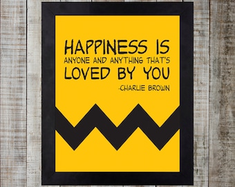 Charlie Brown Happiness Is Print