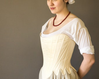 1750's-1770's Strapless Stays -- Synthetic Whalebone -- In Stock & Ready to Ship Sizes XS-XXL