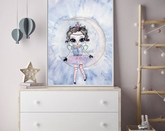 Nursery Decor, Nursery Wall Art, Moon Nursery Art,Decor, Nursery, Nursery Art, Kids Room Decor, Nursery Prints, Childrens Decor, Art