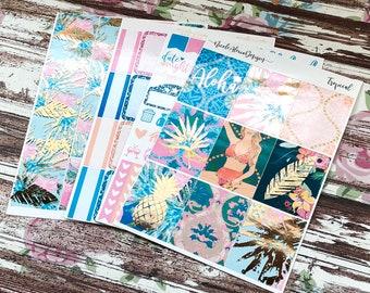 FOIL Tropical Mini Kit, planner stickers