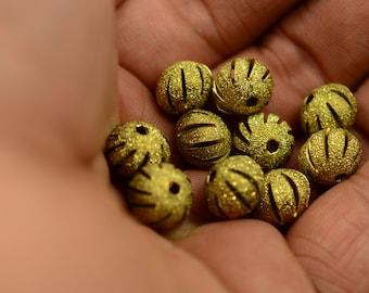 10 Pieces Raw Brass 9x11 mm Oval Brass Bead