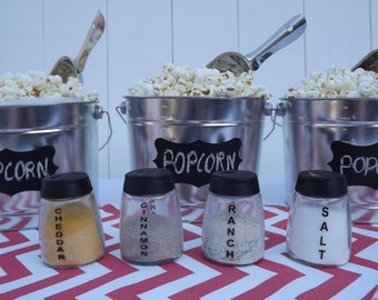 Popcorn Bar Coral Chevron Party in a Box