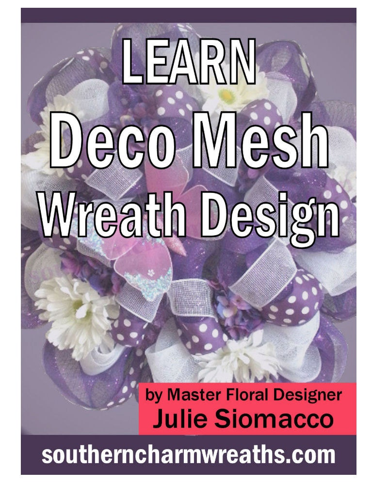 How to make a mesh wreath bundle how to make deco mesh zoom baditri Gallery