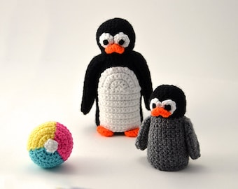 Penguins Crochet Pattern Set, Penguin Crochet Pattern, Penguin Amigurumi Pattern, Amigurumi Penguin Pattern, Animal Amigurumi Pattern, Zoo