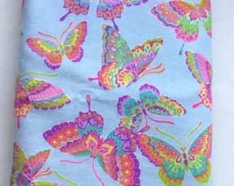Butterflies flannel swaddle blanket, Baby Receiving Blanket, swaddle blanket, stroller blanket