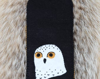 Snowy Owl Felt Phone Case (large)