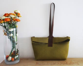Green/ Yellow/ Mustard Shoulder Bag/ Messenger