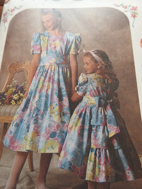 McCalls 5248 Girl\'s Party Dress Sewing Pattern from ...