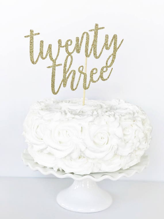 Twenty three cake topper 23 cake topper 23rd birthday thecheapjerseys Images