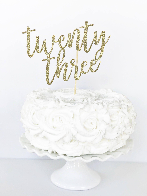Twenty three cake topper 23 cake topper 23rd birthday zoom thecheapjerseys Gallery