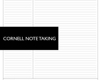 CORNELL NOTE TAKING Printable