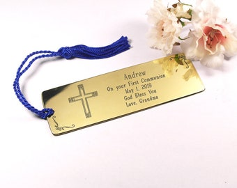 Personalised Christening Gift Custom First Communion Bookmark Custom Christening Communion Present Communion first Bible bookmark
