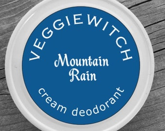 Mountain Rain - Veggiewitch Cream Deodorant - All Natural - Vegan & Organic