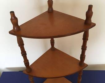 Corner Shelf ~ Tabletop Shelf ~Spindle Legs ~ Three Shelves ~ Collectibles ~ Curio Shelf ~ Knick Knacks ~ Curio Cabinet ~ Vintage