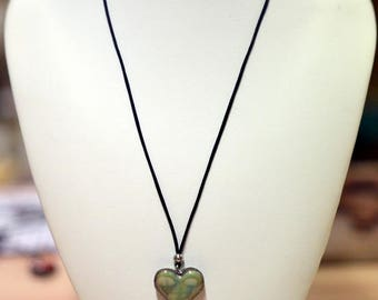 Green ceramic Heart Necklace