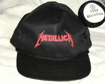 Original Vintage Metallica Chapeau - Casquette Tour Rare, au début, de la Justice pour tous, cadavres d'animaux