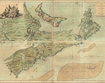 Poster, Many Sizes Available; Map Of Nova Scotia Cape Breton 1768 P2