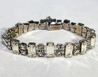 Vintage Rhinestone Link Bracelet
