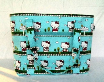 Hello Kitty Tote, Tote Bag, Hello Kitty Bag, Shopping Bag, Reusable Bag, Carryall Bag, Market Bag, Shopper Bag, Tote, Shopper Tote
