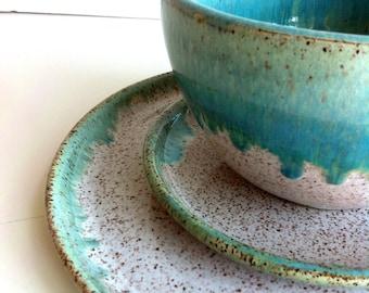 Kristen Rudick and Robert Sullivan Wedding Registry - Wheel Thrown Stoneware Dinnerware Set & Stoneware dinnerware   Etsy