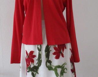 Summer skirt, ' sunny ' ' linen knit