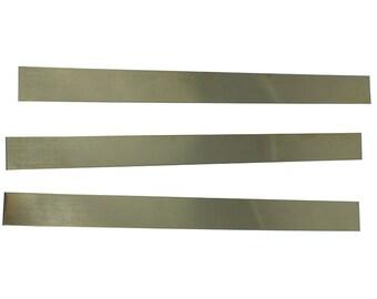 """Red Brass Sheet 16ga 12"""" x 1"""" 1.30mm Thick (Pkg of 3)  (BS16-12X1)"""