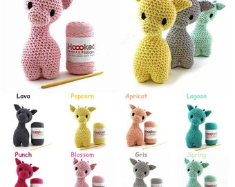 Hoooked DIY Crochet Kit Ziggy Giraffe Amigurumi Eco Barbante Recycled Toy Gift