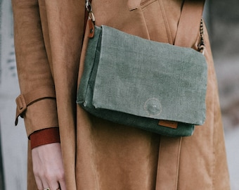 WWII era miliatry canvas clutch bag