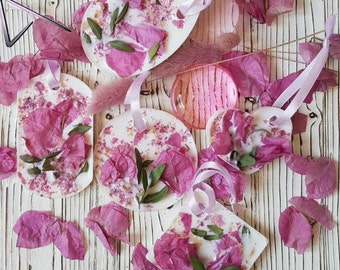 Fragrant sachet scent of lavender Wax tablet Wax sachet Room fragrance Wedding idea Guest gifts lavender Souvenir Flavor Flavored Sachet