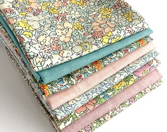 Liberty Pastel Fat Quarter Bundle - Liberty of London Fabrics, Cottage Garden, Fabric for Quilting