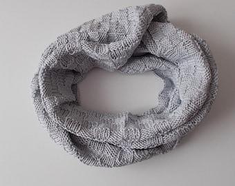 Scarf Knitting Pattern Knit Scarf Endless Scarf Grey