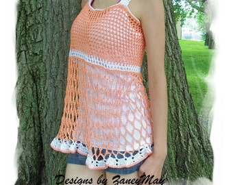 Crochet Baby Doll Top, Pattern in PDF