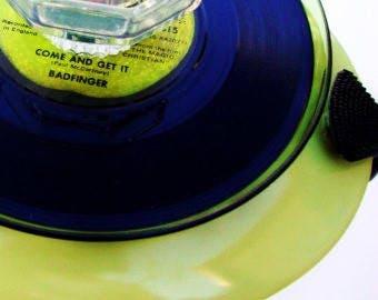 "RECORD VINYL Art Badfinger Candle Holder  ""Come & Get It"" 3D Music Memorabilia 1970 Vintage Vinyl Apple Records Beatles Music Votive Taper"