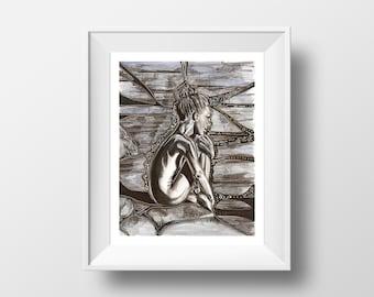 Womb - illustration - giclee print