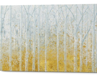 """Giclee Canvas Wall Art """"Silver Water GOLD"""" by James Wienes"""