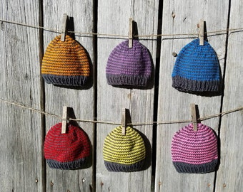 Baby Hat in Primary Color Stripe - More Colors