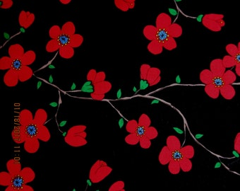 FLOWER FABRIC FLORENTINA by Valori Wells for Free Spirit Fabric -  1 Yard - F13