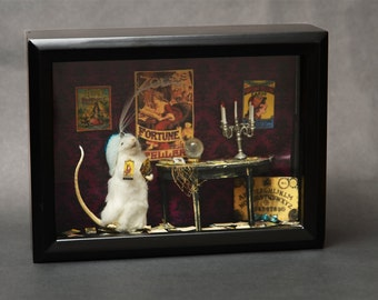 Fortune Teller Taxidermy Mouse Diorama