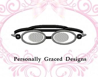 Instant Download Swimming Goggles Applique Machine Embroidery Design 4x4, 5x7, 6x10 4 SIZES, Swim Applique, Swim Embroidery, Swimmer