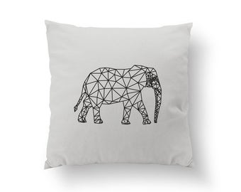 Gold Elephant Pillow, Elephant Pillow, Home Decor, Cushion Cover, Throw Pillow, Bedroom Decor, Geometric Pillow, Modern Pillow, Gold Pillow.