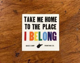 I Belong Sticker (Set of 5)