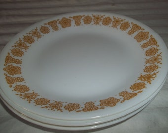 Sale****Set of 4 Corelle Golden Butterfly Bread, or Salad Plates 6.75""